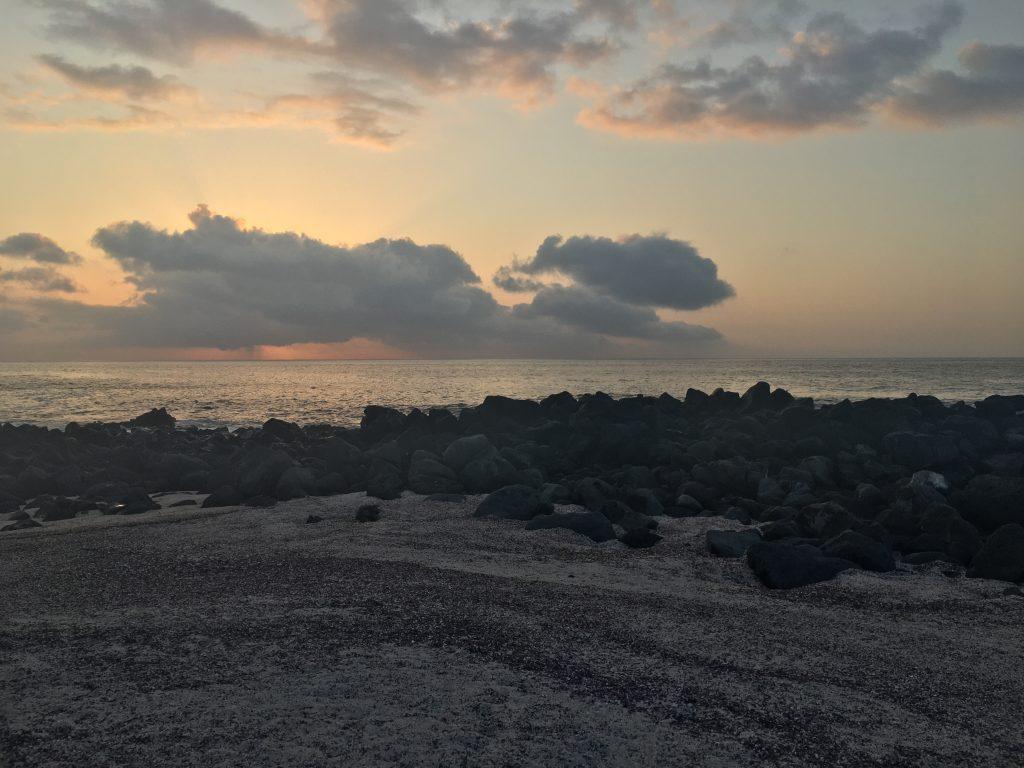 the sunset on San Cristobal island