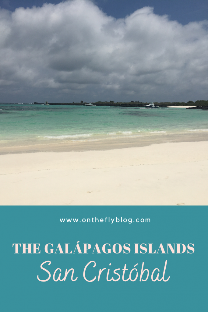 pin image of a Galapagos beach with the title the Galapagos islands, san cristobal