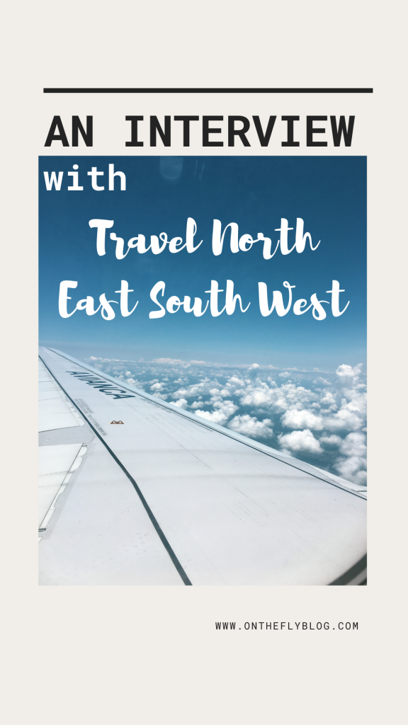 "pin image of a plane with the title ""an interview with Travel North East South West"""