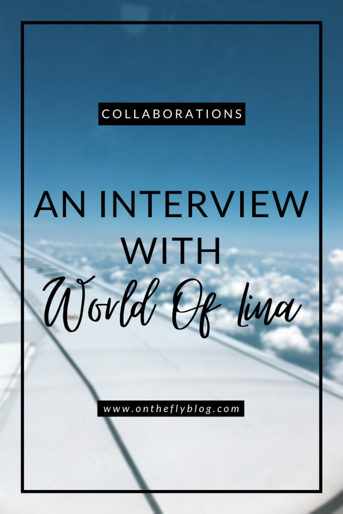 "pin image of a plane with with the title ""an interview with World of Lina"""